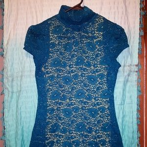 Express Lace Turtleneck Small